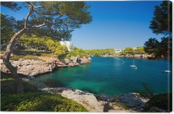 Leinwandbild Cala d'Or Bucht, Mallorca, Spanien