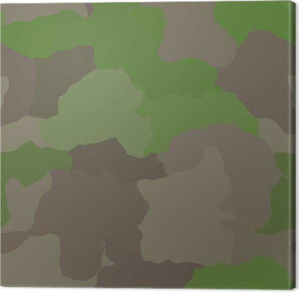 Leinwandbild Camouflage Muster Dschungel Farben Design Grafik Tapete