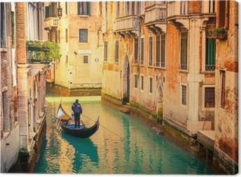 Leinwandbild Canal in Venedig