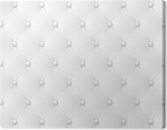 Leinwandbild Capitonné blanc-1
