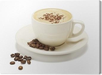 Leinwandbild Cappuccino auf einem weißen Hintergrund