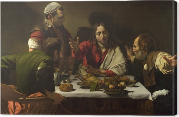 Leinwandbild Caravaggio - Das Abendmahl in Emmaus - Reproductions