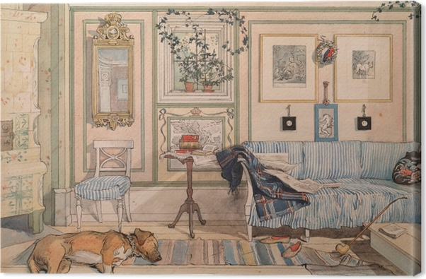 Leinwandbild Carl Larsson - Gemütliche Ecke - Reproductions