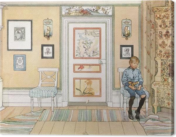 Leinwandbild Carl Larsson - In der Ecke - Reproductions