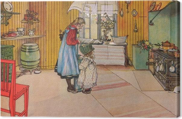 Leinwandbild Carl Larsson - Küche - Reproductions