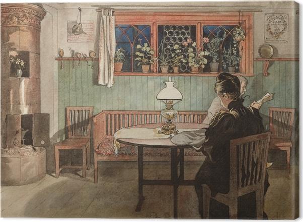 Leinwandbild Carl Larsson - Wenn die Kinder schlafen - Reproductions
