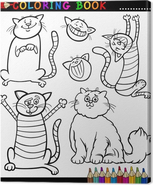 Leinwandbild Cartoon Katzen oder Kätzchen Malvorlagen • Pixers ...