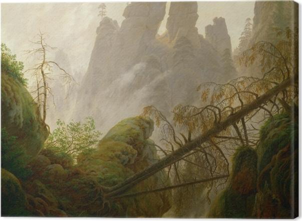Leinwandbild Caspar David Friedrich - Felsenlandschaft im Elbsandsteingebirge - Reproductions