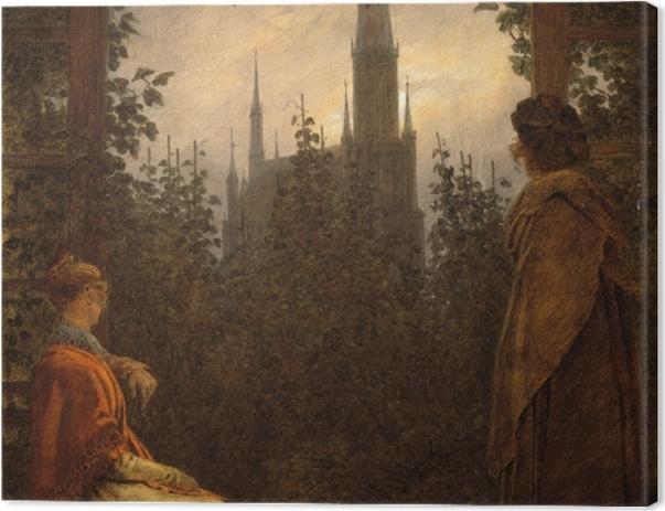 Leinwandbild Caspar David Friedrich - Gartenlaube in Greifswald - Reproductions