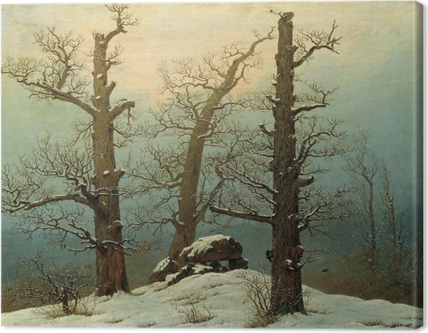 Leinwandbild Caspar David Friedrich - Hühnengrab im Schnee - Reproductions