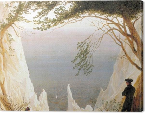 Leinwandbild Caspar David Friedrich - Kreidefelsen auf Rügen - Reproductions