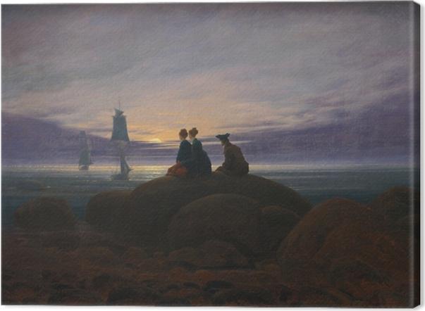 Leinwandbild Caspar David Friedrich - Mondaufgang am Meer - Reproductions