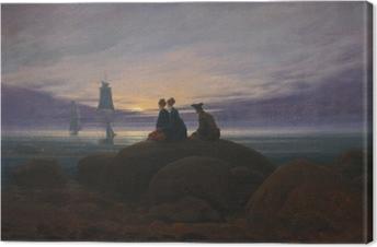 Leinwandbild Caspar David Friedrich - Mondaufgang am Meer