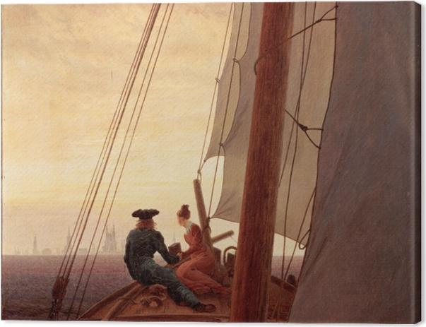 Leinwandbild Caspar David Friedrich - Segelschiff - Reproductions