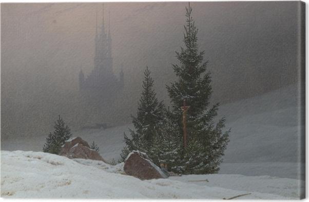 Leinwandbild Caspar David Friedrich - Winterlandschaft II - Reproductions