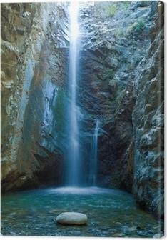Leinwandbild Chantara Wasserfälle in Trodos Bergen, Zypern