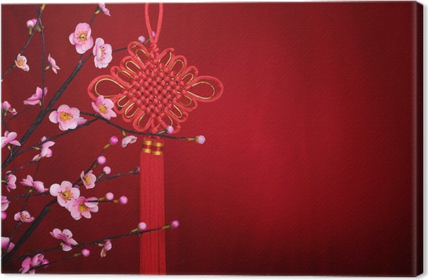 Leinwandbild Chinese new year decoration • Pixers® - Wir leben, um ...