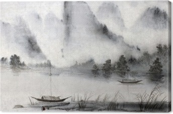 Leinwandbild Chinesische Malerei