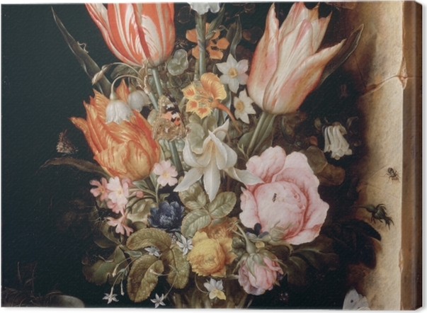 Leinwandbild Christoffel van den Berghe - Still Life with Flowers in a Vase - Reproduktion