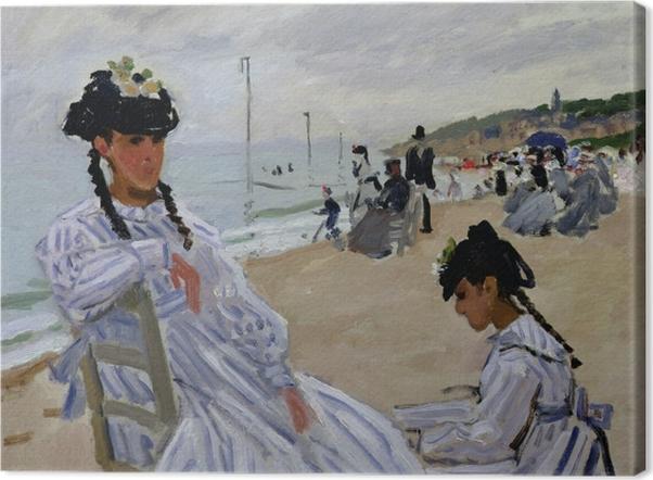 Leinwandbild Claude Monet - Am Strand von Trouville - Reproduktion