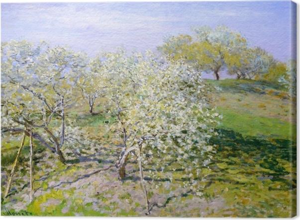Leinwandbild Claude Monet - Apfelbäume in Blüte - Reproduktion
