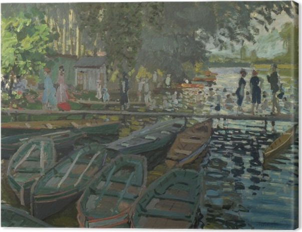 Leinwandbild Claude Monet - Badende in La Grenouillère - Reproduktion