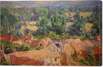 Leinwandbild Claude Monet - Blick auf Dorf Giverny