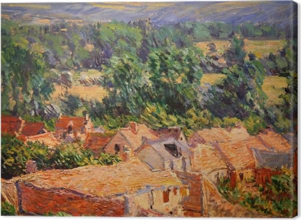 Leinwandbild Claude Monet - Blick auf Dorf Giverny - Reproduktion