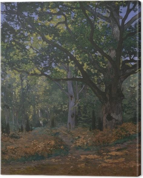 Leinwandbild Claude Monet - Bodmer Eiche im Wald von Fontainebleau - Reproduktion