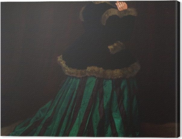 Leinwandbild Claude Monet - Camille im grünen Kleid - Reproduktion