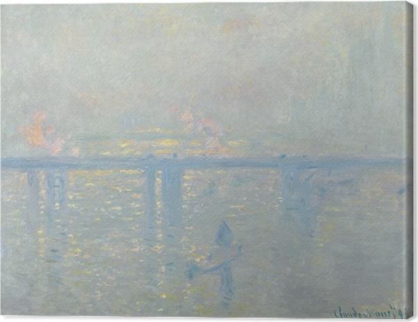 Leinwandbild Claude Monet - Charing Cross Bridge, die Themse - Reproduktion