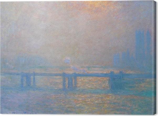 Leinwandbild Claude Monet - Charing Cross Bridge - Reproduktion