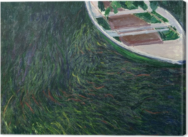 Leinwandbild Claude Monet - Das Boot - Reproduktion