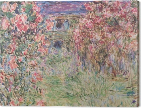 Leinwandbild Claude Monet - Das Haus in den Rosen - Reproduktion