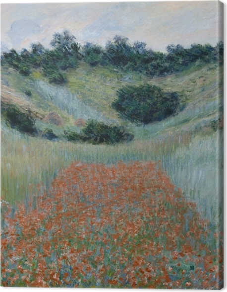 Leinwandbild Claude Monet - Das Mohnfeld bei Giverny - Reproduktion