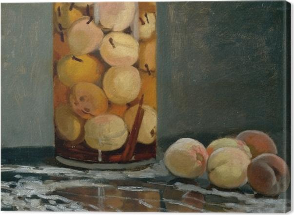 Leinwandbild Claude Monet - Das Pfirsischglas - Reproduktion