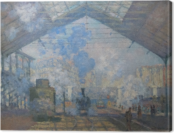 Leinwandbild Claude Monet - Der Bahnhof Saint-Lazare - Reproduktion