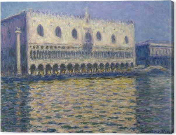 Leinwandbild Claude Monet - Der Dogenpalast in Venedig - Reproduktion