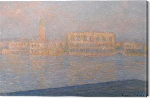 Leinwandbild Claude Monet - Der Dogenpalast, von San Giorgio Maggiore aus gesehen - Reproduktion