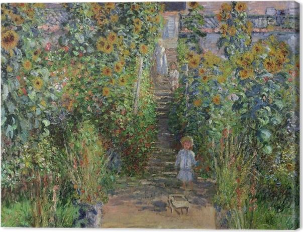 Leinwandbild Claude Monet - Der Garten des Künstlers in Vétheuil - Reproduktion