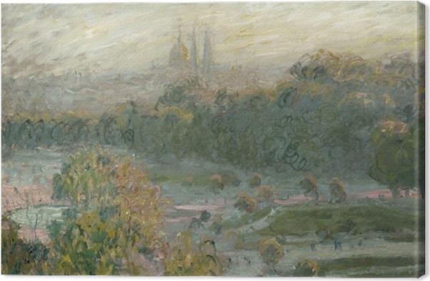 Leinwandbild Claude Monet - Der Jardin des Tuileries (Studie) - Reproduktion