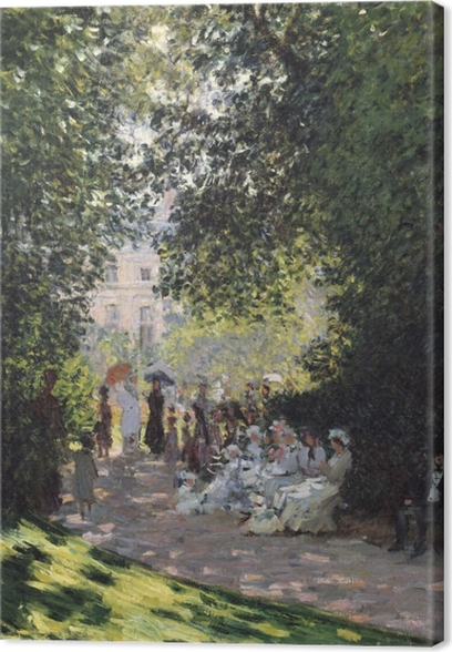 Leinwandbild Claude Monet - Der Parc Monceau - Reproduktion
