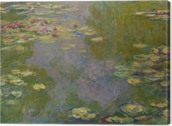 Leinwandbild Claude Monet - Der Seerosenteich - Reproduktion