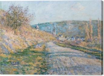 Leinwandbild Claude Monet - Der Weg nach Vétheuil