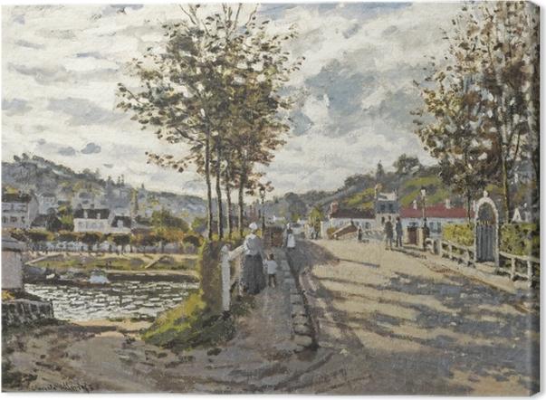 Leinwandbild Claude Monet - Die Brücke von Bougival - Reproduktion