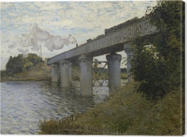 Leinwandbild Claude Monet - Die Eisenbahnbrücke von Argenteuil - Reproduktion