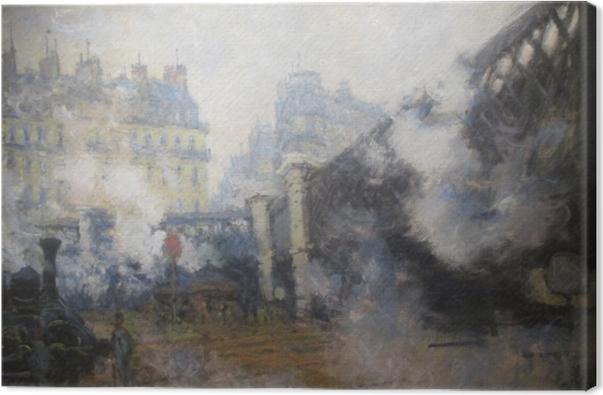 Leinwandbild Claude Monet - Die Europabrücke am Bahnhof Saint-Lazare - Reproduktion