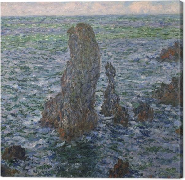 Leinwandbild Claude Monet - Die Felsen von Belle-Île, die wilde Küste - Reproduktion