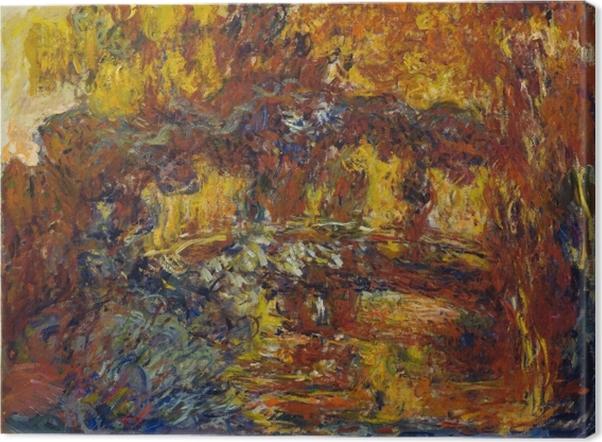 Leinwandbild Claude Monet - Die japanische Brücke - Reproduktion