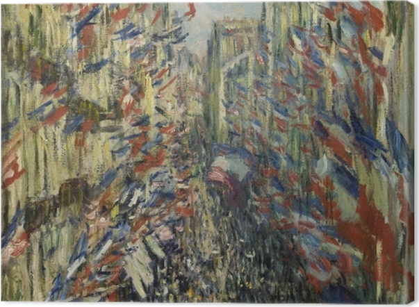 Leinwandbild Claude Monet - Die Rue Montorgueil in Paris. Das Fest des 30. Juni 1878 - Reproduktion
